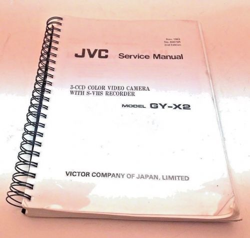 JVC GY GX2 PROFESSIONAL VIDEO CAMERA SERVICE MANUAL